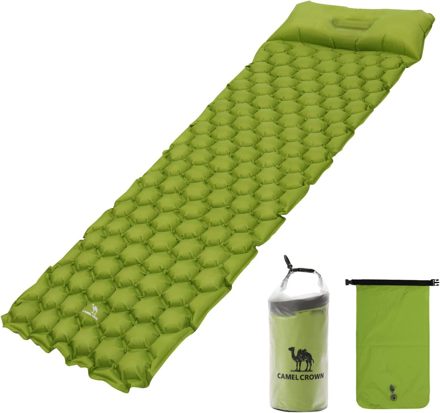 CAMEL Regular discount CROWN Camping Los Angeles Mall Sleeping Pad Upgraded Built-in with Pump Inf