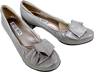 [フィズリーン] fizzreen 2821 レディース パンプス 天然皮革 通勤靴 仕事靴 ラウンドトゥ プラチナ 日本製