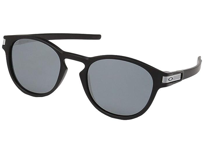 Oakley Latch Grid (Matte Black w/ Prizm Black) Sport Sunglasses