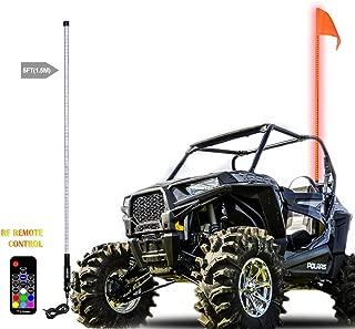 Beatto 5FT(1.5M) RF Remote Controll RGB LED Whips Light LED Safety Flag Poles Light LED Antenna Light For Off- Road Vehicle ATV UTV RZR Jeep Trucks Dunes
