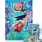 1000 Piezas de Rompecabezas Ralph Breaks Internet Movie Poster Jigsaw Challenge Puzzle Paper Jigsaw Game 26x38cm Juguete para aliviar el estrés Intelectual de los niños