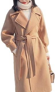 neveraway Womens Audrey Hepburn Wool Blend Long Slim Fit Outwear Worsted Coat