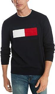 Tommy Jeans Men's Cotton Crew Neck Flag Sweater