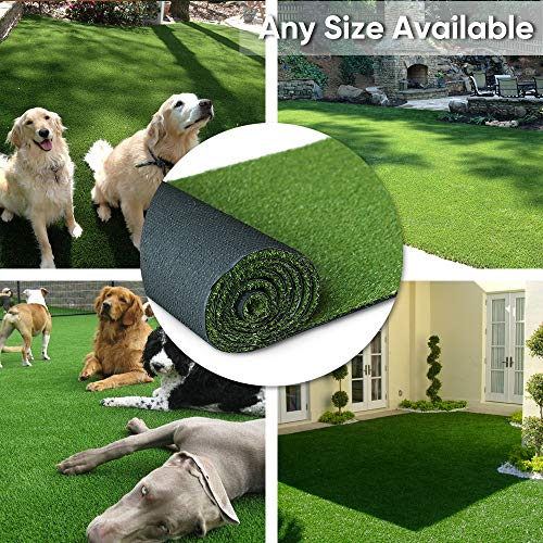 · Petgrow · Artificial Synthetic Grass Turf 8FTX8FT(64 Square FT),0.8' Pile Height Indoor Outdoor Pet Dog Artificial Grass Mat Rug Carpet for Garden Backyard Balcony