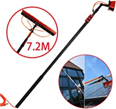 JSZMQD 3.6M-9M Window Clean Equipment Telescopic Extension Pole Cleaning Kit, Photovoltaic Panel Cleaning Tool, for Cars, ...