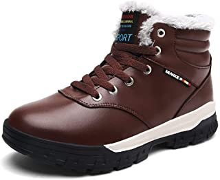 Snow Boots Men Warm Casual Shoes Winter Hiking Shoes with Velvet Lining
