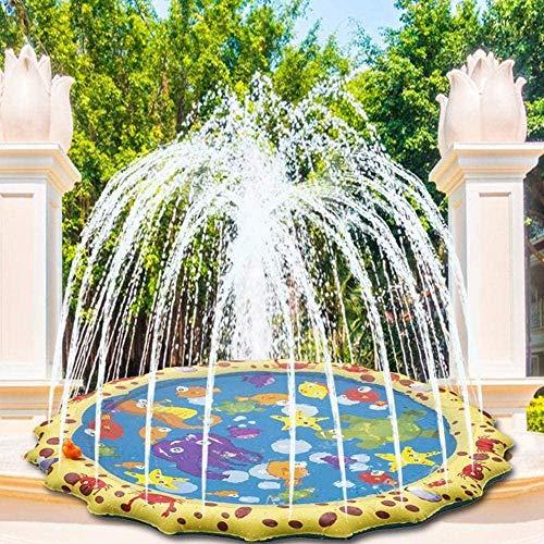 FANLIU Spielen Sprinkler und Splash-Matten-Auflage - Party im Freien Sprinkler Pad Sommer/Garten/Strand Wasser-Spray-Mat s Spiele for Kinder/Kinder/Kleinkind Fun 68 Zoll, Größe: 68 Zoll