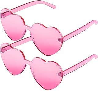 2 Pack Heart Shape Sunglasses Party Sunglasses