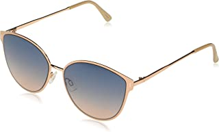 Women's J5866 Enamel Rim Cat-Eye Sunglasses with 100% UV Protection, 57 mm