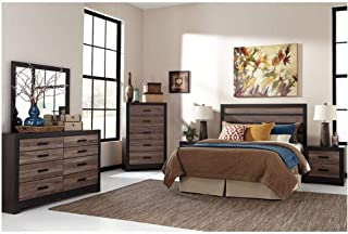 Amazing Buys Harlinton Bedroom Set by Ashley Furniture - Includes Queen Headboard, Dresser, Mirror, 2 Night Stands and Chest