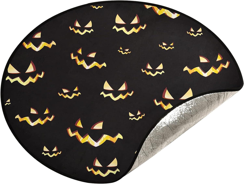 xigua 28.3 Miami Mall Inch Christmas Tree Stand Pumpk - Halloween Max 90% OFF Scary Mat