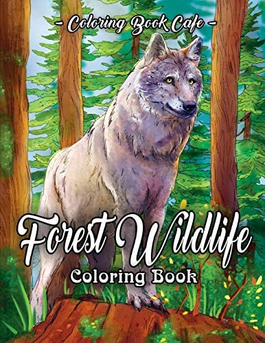 Forest Wildlife Coloring Book An Adult Coloring Book Featuring Beautiful Forest Animals Birds product image
