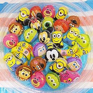 ビニールヨーヨー 色々混ざったバラエティなパンチボール キャラクターのみ 30個+予備2個/お祭り 景品 縁日 ヨーヨー釣り  10210