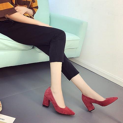 CXY Porter des Chaussures à Talons Hauts Chaussures de Joker de la Mode Pointue Bouche Peu Profonde Chaussures,Une,39