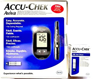 Accu-Check Aviva Glucose Meter With 10 Strips Free