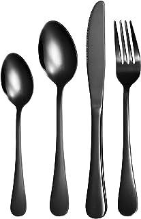 Silverware Set for 6, 24 Pieces Flatware Cutlery Set Stainless Steel Dinnerware Tableware Service Set, Include Dinner Kniv...