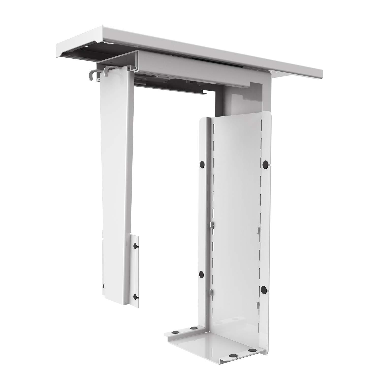 AIMEZO Soporte PC Soporte de Caja de Ordenador bajo Mesa o fijación a Pared Ajustable Acero(Blanco): Amazon.es: Electrónica