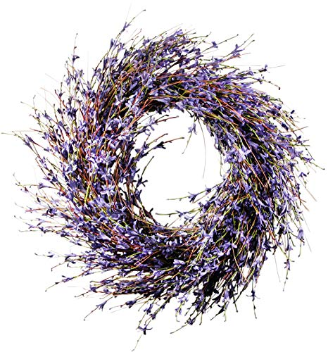 Faux Dried Lavender Floral Door Wreath Product SKU: HD223193