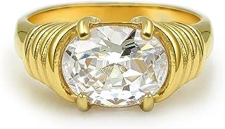 JA.S.JR 18K الذهب مطلي تشيكوسلوفاكيا خواتم الذهب خاتم للنساء