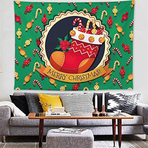 Tapiz navideño Tapiz Colgante de Pared Manta Mandala Pintura al óleo Almohadilla de Yoga Alfombra para Dormir Viaje Camping Festival Decoración para el hogar-230x180cm