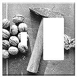 Toggle Rocker/GFCI Combination Wall Plate Cover - Nutcracker Hammer Nutshell Diet Health Macro