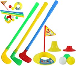 pushfocourag - Juego de Mini Palos de Golf para niños, para