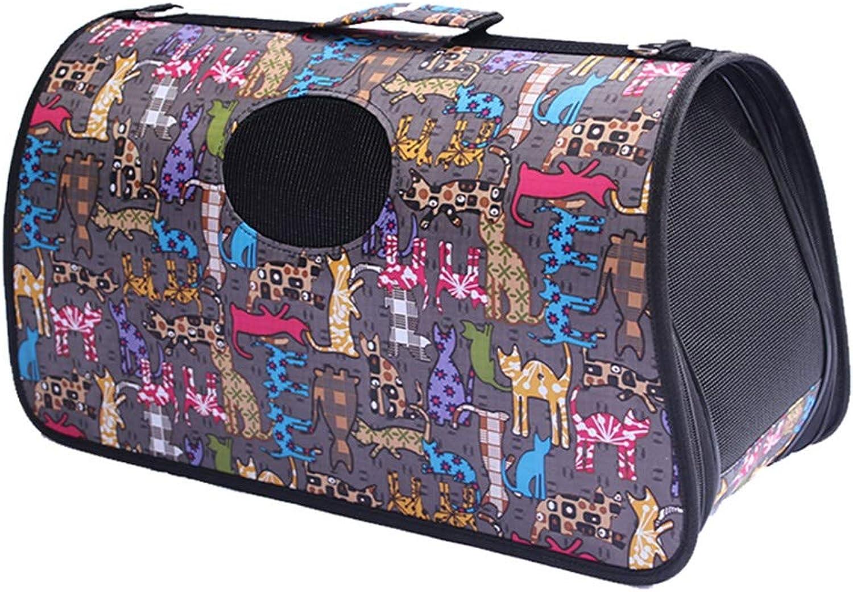 BLWXPet bag  Cat Bag Out Carrying Bag Pet Bag Travel Bag Teddy Bomei Portable Diagonal Bag Cat Folding Breathable Cage Pet bag (color   H, Size   53X22X28CM)