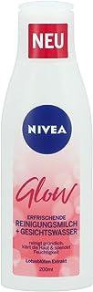 Nivea Glow Erfrischende Reinigungsmilch  Gesichtswasser, 2er Pack 2 x 200ml