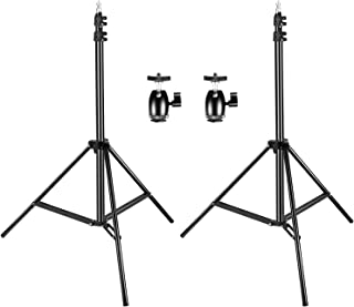 Neewer 2 Packs 75 inches/190 Centimeters Adjustable Light Stands with 2 Pieces 1/4-inch Screw Tripod Mini Ball Head Hot Sh...