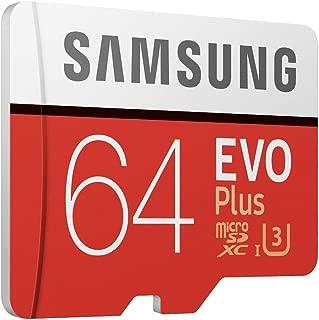 Samsung EVO Plus 64GB microSDXC UHS-I U3 100MB/s Full HD & 4K UHD Memory Card with Adapter (MB-MC64GA)