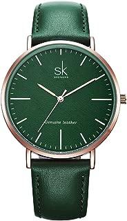 SHENGKE Genuine Leather Ultra Thin Women Watches 2018 Women Quartz Watch Elegant Dress Ladies Watch K0082L