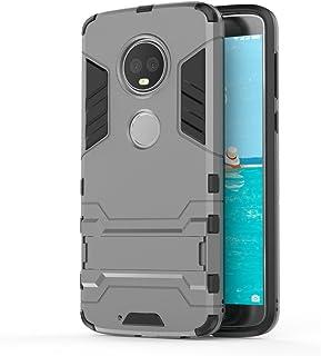 جراب FanTing لهاتف Motorola Moto G6 Plus، قوي ومضاد للصدمات، مع حامل هاتف محمول، غطاء لهاتف Motorola Moto G6 Plus- Motorol...