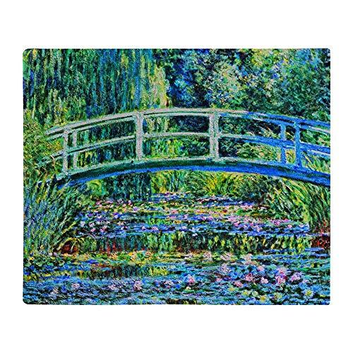 "CafePress Monet Water Lily Pond Throw Blanket Soft Fleece Throw Blanket, 50""x60"" Stadium Blanket"
