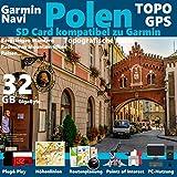 Polen Karte TOPO microSD. Topografische GPS Freizeitkarte für Fahrrad Wandern Touren Trekking Geocaching & Outdoor. für Garmin Navigationsgeräte, PC & MAC