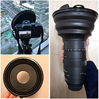 Lens Hood Reducing Glare in Outdoor Photography for SLR Cameras. Vbestlife Lens Hood Universal Anti-Reflective Foldable Silicone Lens
