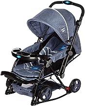 Mee Mee Baby Rocker Stroller Pram |Rocking Function |Height Adjustable Handle | Fully Rotating Wheels | Feeding Tray |for ...