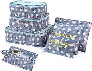7 uppsättningar packkuber reseorganiserare bagage komprimeringsfickor