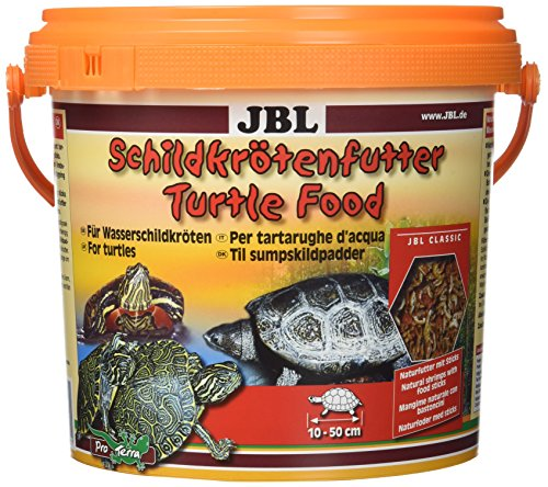 JBL hoofdvoering voor waterschildpadden van 10-50 cm, natuurlijke voering met borduurs, schildpadvoering, 2.5 l