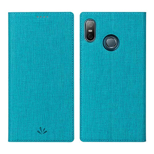 Eastcoo HTC U12 Life Hülle Folio Flip Schutzhülle Tasche Handyhülle Cover PU Leder Dünn Premium klappbares Book TPU Bumper Hülle [Mit Standfunktion][ Magnetverschluss] [Kartenfach] (Blue)
