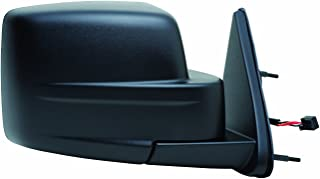Fit System Passenger Side Mirror for Dodge Nitro, Textured Black, Foldaway (Code GT9, 8 pin/ 3 Wire), Power