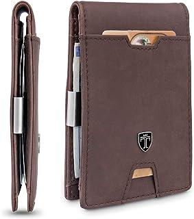 """TRAVANDO ® Portafoglio uomo piccolo con protezione RFID """"TORINO"""" Porta carte di credito con clip per contanti, Portafogli ..."""