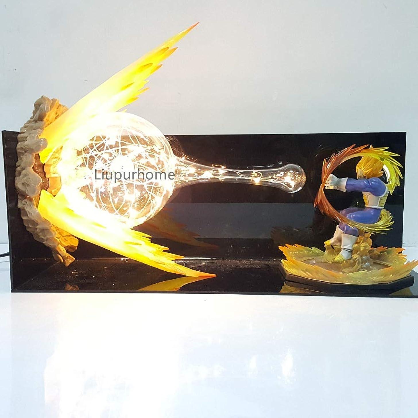 Led Night Lights Desk Lamp Dragon Ball Super Vegeta Dragon Ball Z Vegeta Final Flash Led Lighting Lampara Dragon Ball
