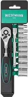"""12-częściowy zestaw kluczy nasadowych z grzechotką 1/4"""", końcówkami sześciokątnymi 4–13mm i przedłużką 100mm ze stali ch..."""