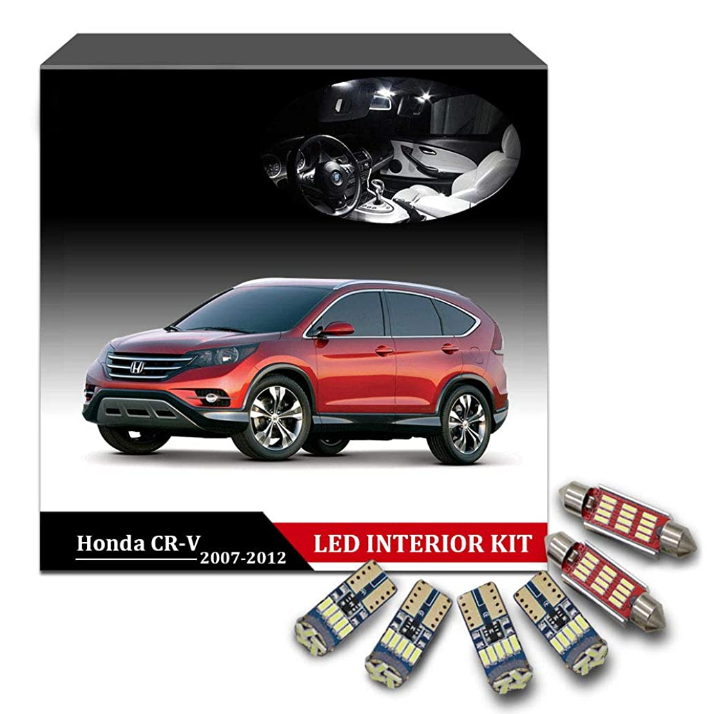 For 2002-2012 Honda CR-V CRV 9Pcs Super Bright LED Interior Lights Replacement Package Kit With Map Dome Glove Box Trunk License Plate Light 6000K White xwmkugrt89359