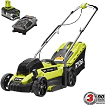 Ryobi 13 13 in. ONE+ 18-Volt Lithium-Ion Cordless Battery Walk Behind Push Lawn Mower - 4.0 Ah Battery and Charger Included