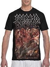 Rebecca-P Mens Funny Morbid Angel Kingdoms Disdained T-Shirts L Black