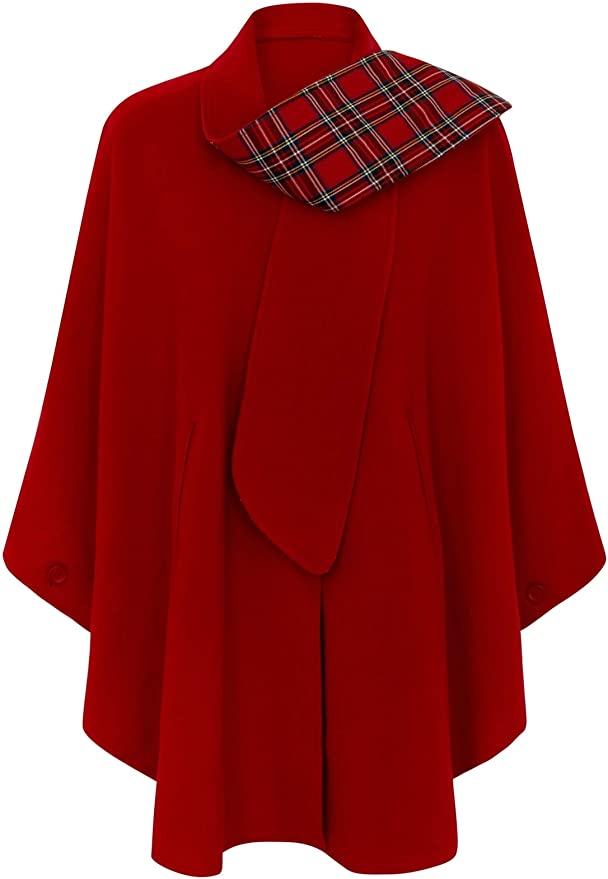1950s Coats and Jackets History Oxfords Cashmere Tartan Cape  AT vintagedancer.com