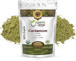Organic Way Green Cardamom Elaichi Powder (Elettaria cardamomum) - Adds Flavour & Aroma | Organic & Kosher Certified | Raw...