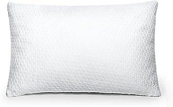Sable Cuscino da Letto con Memory Foam Certificata CertiPUR-US (20% Più Imbottitura e Zip YKK, Fibra di Bambù Respirabile e Design Forato, Lavabile in Lavatrice) – 40 x 70 cm