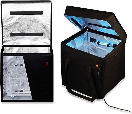 Virushield Large (70L) UV Sterilizer Box, UV Bag Sanitizer, UV Disinfectant Box for Household Item Vegetables, 2 UV L...